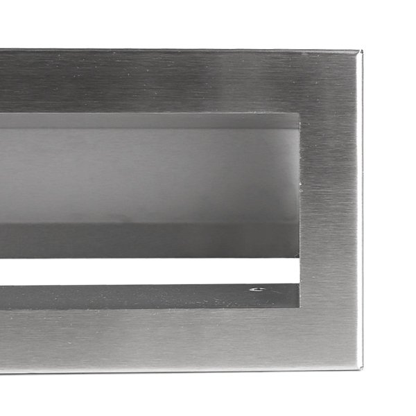 Luchtrooster 200x60mm RVS VP-OPEN