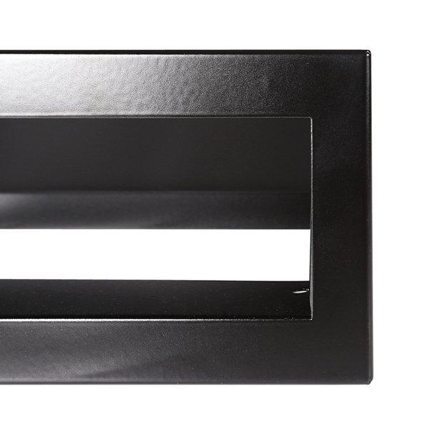 Luchtrooster 400x60mm zwart VP-OPEN