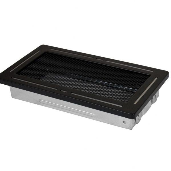 Luchtrooster 100x200mm gaas zwart DESIGN