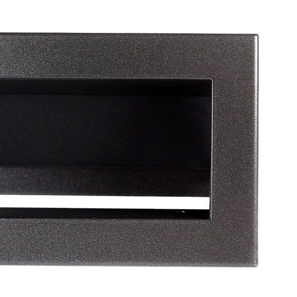 Luchtrooster 400x60mm antraciet VP-OPEN