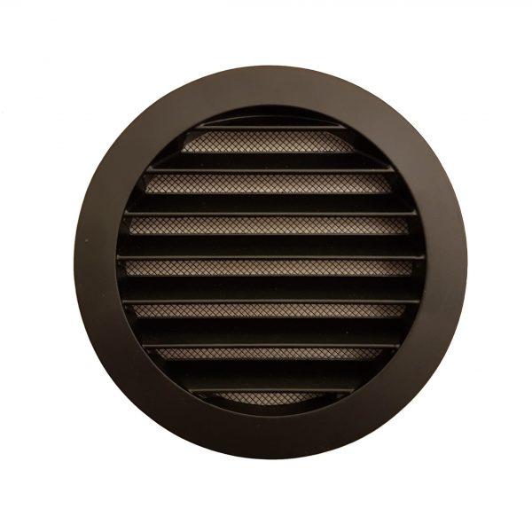Rond buitenluchtrooster Ø100mm BASIC aluminium zwart