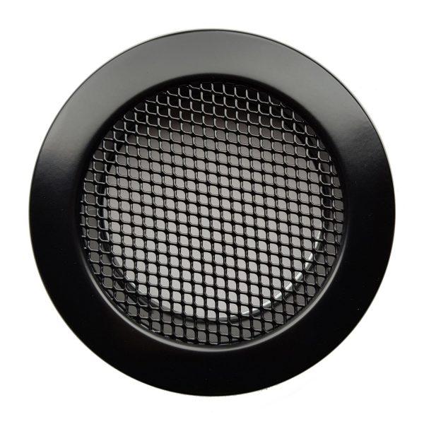Luchtrooster Ø100mm zwart ROND