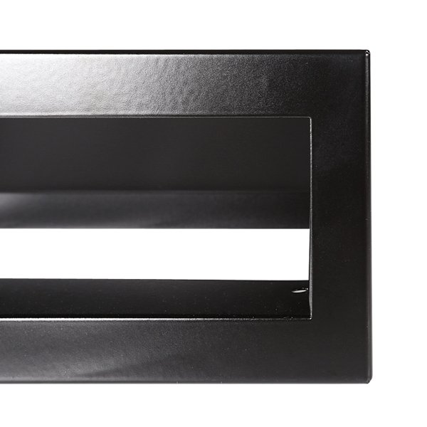 Luchtrooster 600x60mm zwart VP-OPEN