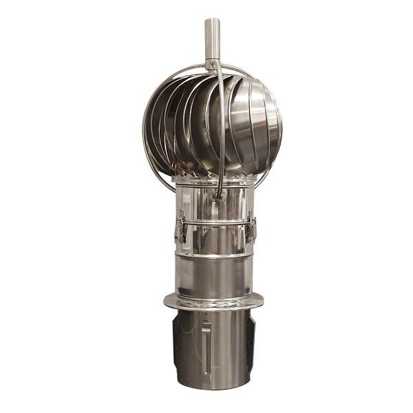 Schoorsteenkap PRO Ø150mm lagers aan de buitenkant en kantelbaar