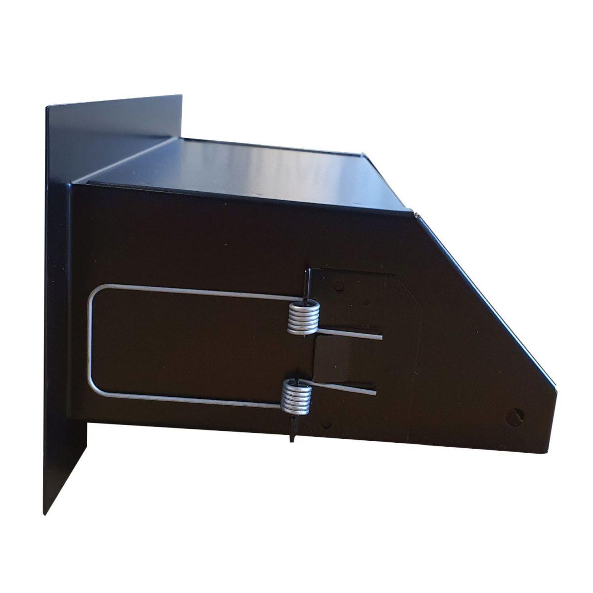 Convectierooster 200x60mm zwart VP-FLAT