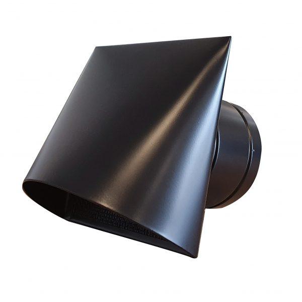 Gevelrooster zwart Ø100mm
