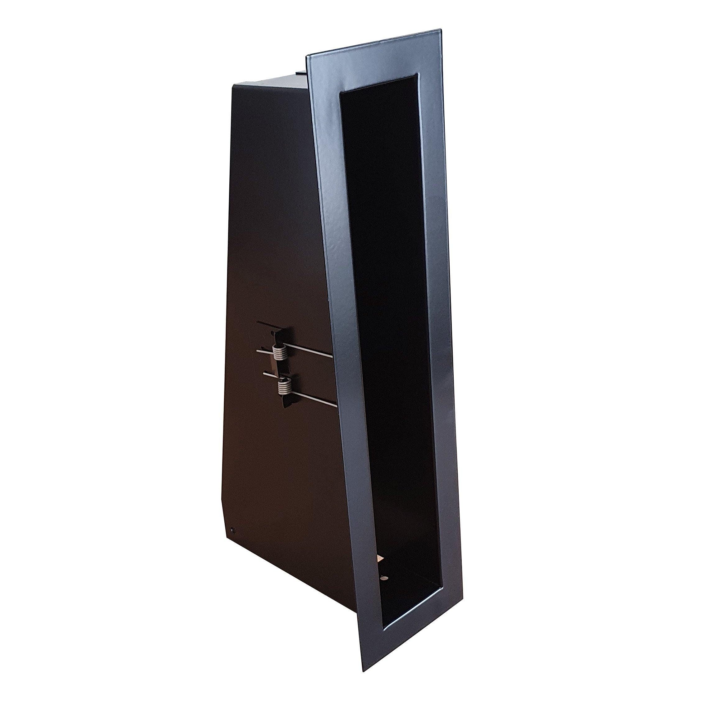 Convectierooster 300x50mm zwart VP-FLAT VERTICAAL